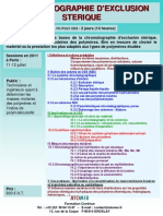 Formation Continue Chromatographie Dexclusion Sterique 2011