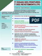 Formation Continue Controle Des Peintures & Revetements 2011