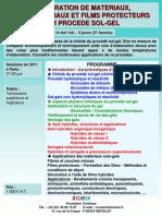 Formation Continue Elaboration Materiaux Nanomateriaux Films Par Procede Sol-gel 2011
