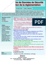 Formation Continue Fiches de Donnees de Securite Evolution Reglementaire 2011