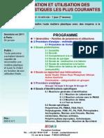 Formation Continue Identification Et Utilisation Des Matieres Plastiques Courantes 2011