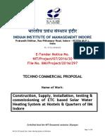 Technical Bid Solar Water Heater at IIM Indore (1)