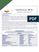 Gulf Harmony AW 46 Data Sheet