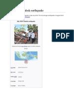 July 2018 Lombok Earthquake