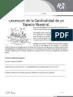 Ficha 12, Obtención de La Cardinalidad de Un Espacio Muestral