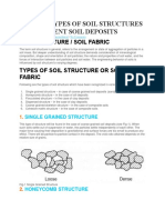 6 Major Types of Soil Structures of Different Soil Deposits