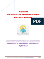GUIDELINES FOR PREPARATION AND PRESENTATION OF PROJECT REPORT CMR COLLEGE OF ENGINEERING & TECHNOLOGY