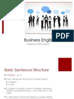 business english first week