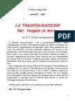 La trasfigurazione nel vangelo di Marco.pdf