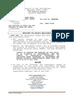 Motion to Reset Hearing Sample