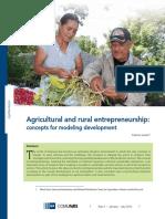 Agricultural and Rural Entrepreneurship 2010