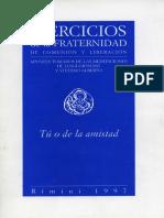 Cuaderno Ejercicios 1997 Fraternidad de Comunión y Liberación con Luigi Giussani