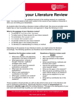 Organise Your Literature Review