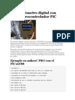 Tacómetro Digital Con Microcontrolador PIC