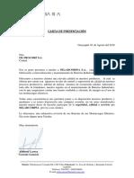 Carta Filtrocorp Ecuador