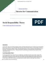 Social Responsibility Theory _ Communication Theory