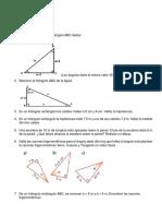 Taller Razones trigonometricas 9°