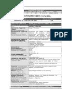 PGP ALC 006 Diccionario WBS Completo