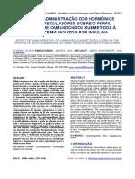 hormônios contrarreguladores sobre perfil glicêmico de Camundongos