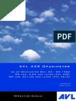 AVL 439 Opacimeter Operating Manual