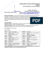 personal fitness fall semester syllabus 2015-16