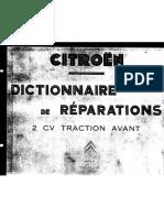 CITROEN dictionnaire de reparations 2cv traction avant(1955) .pdf