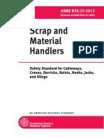 ASME B30!25!2013 Scrap and Material Handlers