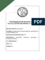 P01 Problemas de Pensamiento Argentino y Latinoamericano Kvasquez RMazzola 2018