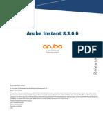 Aruba Instant 8.3.0.0 Release Notes