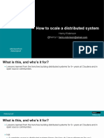 How to Scale a Distributed System