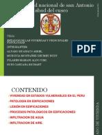 Estados de Vivienda y Principales Patologias