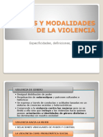 Tipos y Modalidades de La Violencia
