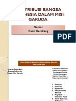 Kontribusi Bangsa Indonesia Dalam Misi Garuda
