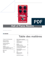 Tc Electronic Hall of Fame Reverb Manual French