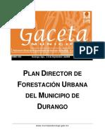 Plan Director de Forestacion Urbana