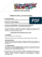 Normativa Para La Ayuda Solidaria 31 Julio 2018.