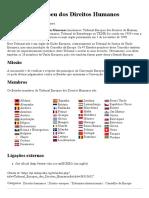 Tribunal Europeu Dos Direitos Humanos – Wikipédia, A Enciclopédia Livre