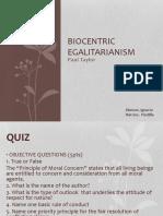 biocentric egalitarianism