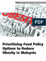 Prioritizing Food Policy Options to Reduce Obesity in Malaysia
