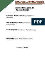 Portafolio Integral de Aprendizaje