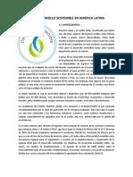 Desarrollo Sostenible en America Latina