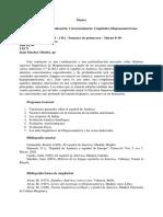 Primavera Master Descriptivos Linguistica