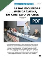 Esquerda NA América Latina em contexto de crise