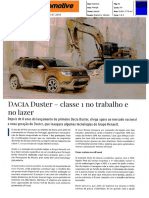 "NOVO DACIA DUSTER NA ""AUTOMOTIVE"""