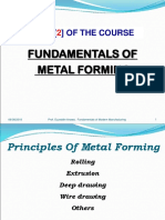 Ch6 - Fundamwntals of Metal Forming