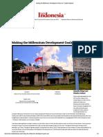 Making the Millennium Development Goals Real - Inside Indonesia