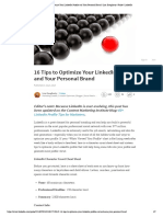 16 Tips to Optimize Your LinkedIn Profile and Your Personal Brand _ Lisa Dougherty _ Pulse _ LinkedIn