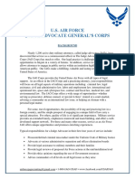 Info Sheet - U.S. AIR FORCE  JUDGE ADVOCATE GENERAL'S CORPS