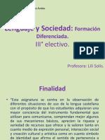 Lenguaje y Sociedad - PPT
