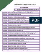 Lista de Insumos Medicos